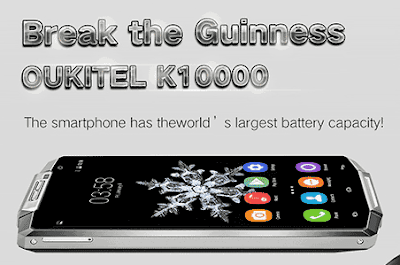 OUKITEL K10000 HP Android Kapasitas Baterai Super Besar 10.000 mAh!