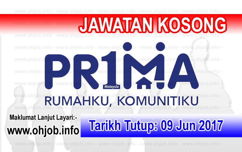 Jawatan Kerja Kosong Perbadanan PR1MA Malaysia logo www.ohjob.info jun 2017