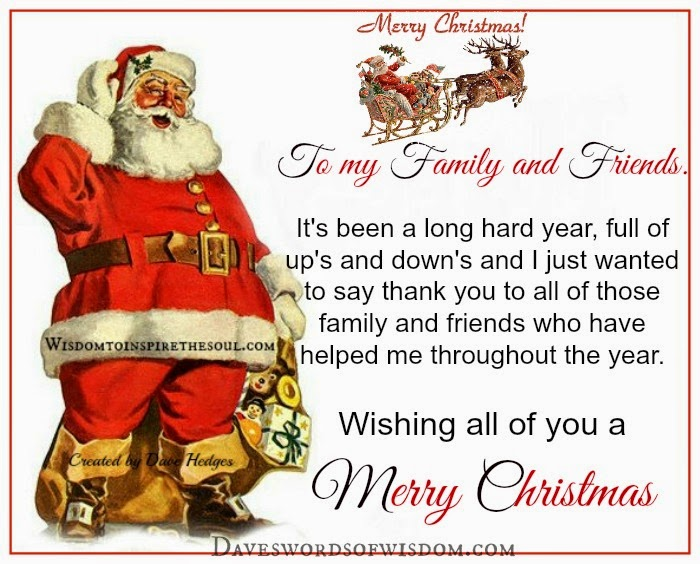 wishing family and friends merry christmas