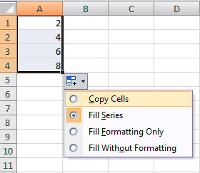 Autofill Using More Than One Starting Cell Value