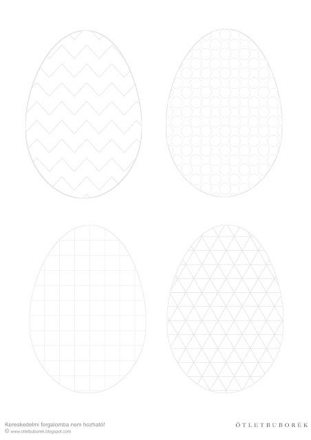 Nyomtatható húsvéti színező, húsvéti tojás színező, felnőtt színező