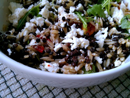 Puy Lentil, Feta and Orzo Salad