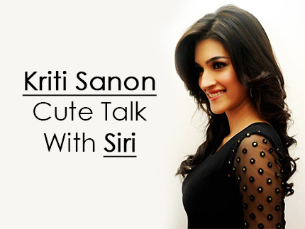 Kriti Sanon Cute Talk With Siri