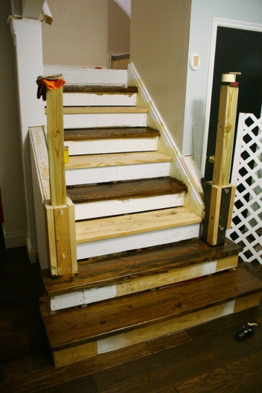 Remodelaholic Walnut Stain At Last Stair Update