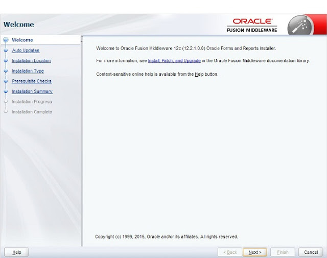 Oracle Forms 12c Installation Step 1
