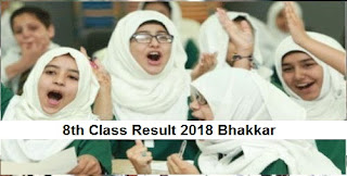 8th Class Result 2019 Bhakkar Board PEC Announced Today - Check Online