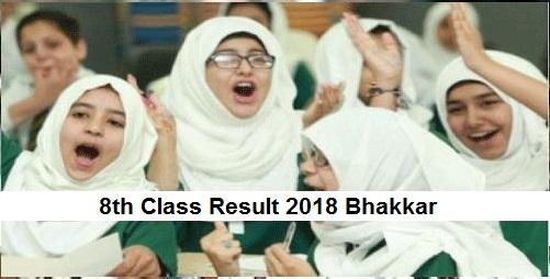 Bhakkar 8th Class Result 2019 - Bhakkar Board PEC Results