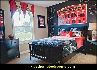 football bedroom decor decorating theme bedrooms maries manor sports bedroom 11546