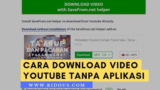 Cara Mudah Download Video Youtube Tanpa Aplikasi di PC
