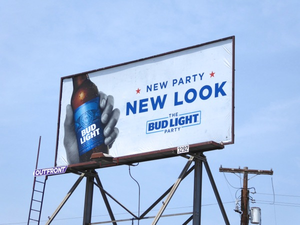 Bud Light New party look billboard