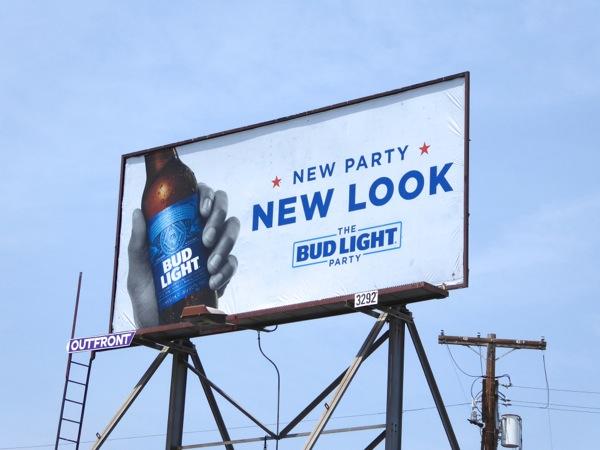Bud Light New party look billboard