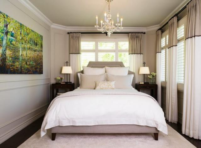 Bedroom Enhanced With Chandelier