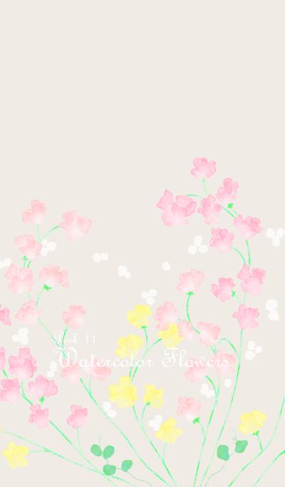 Watercolor Flowers[Sweet pea]/Pink11