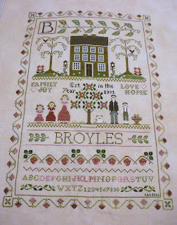 Little House Needleworks Family Sampler