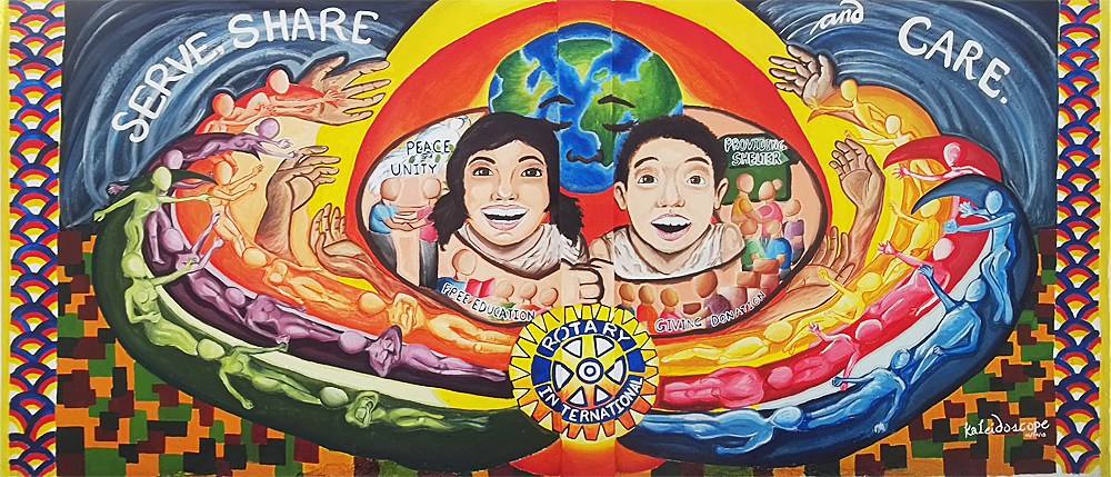 Rotary Club of Zamboanga City Mural Painting Competition 2012 Reach Within to Embrace Humanity Wall entries