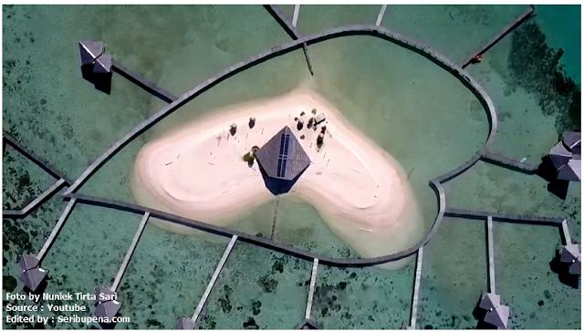 Pemandangan Pulo Cinta ( Pulau Cinta Boalemo )
