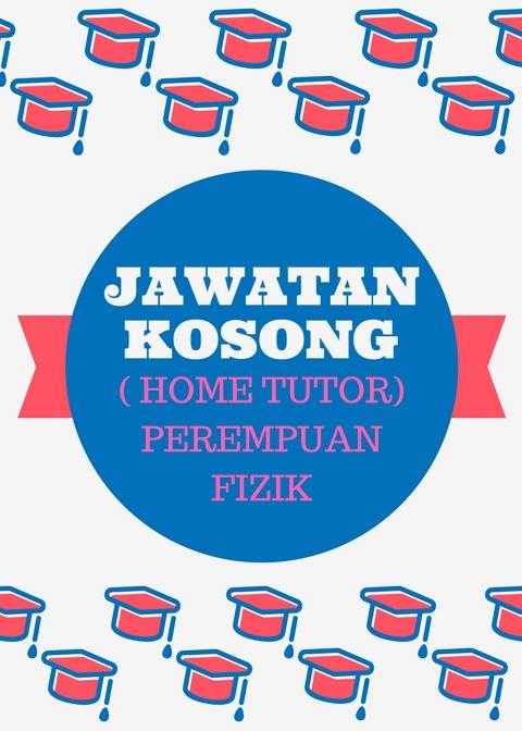 Tuisyen Individu Home Tuition #1 Kelantan: JAWATAN KOSONG ...