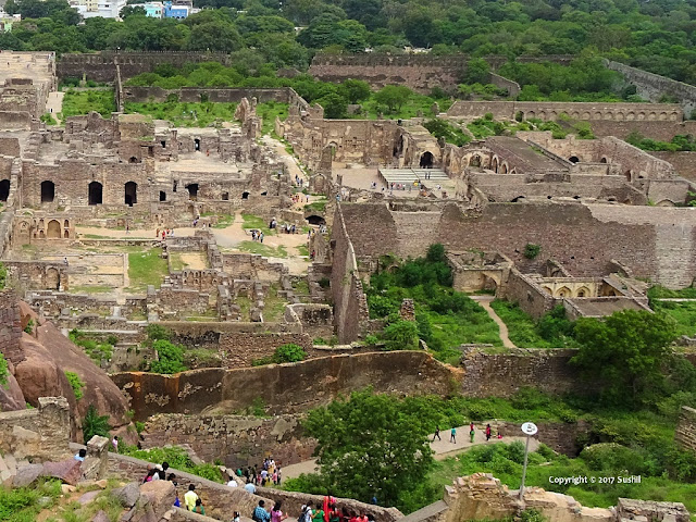 Landscape View while climbing, Golkonda Fort, Hyderabad