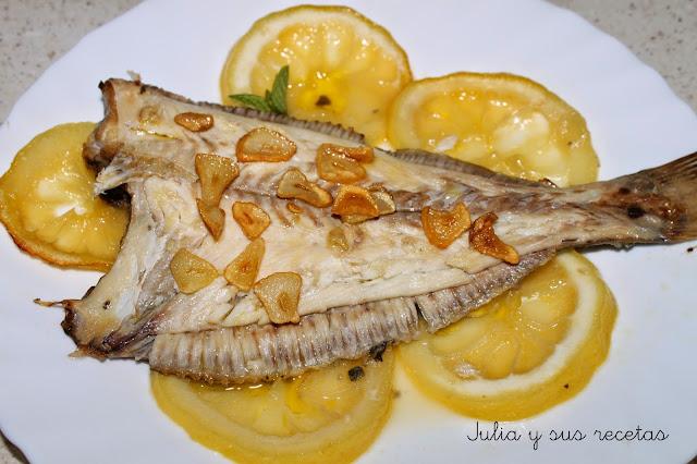 Lenguados al limón. Julia y sus recetas