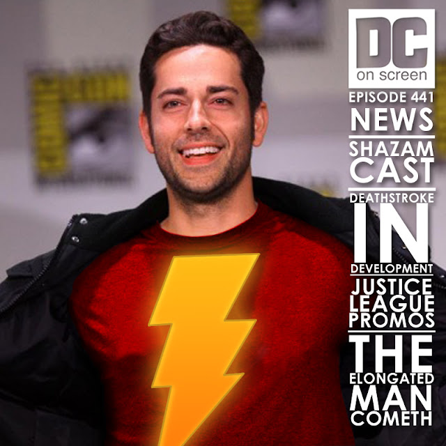 Zachary Levi with the bolt