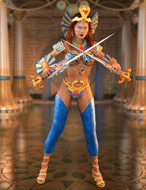 Warrior Goddess for Genesis 3 Female