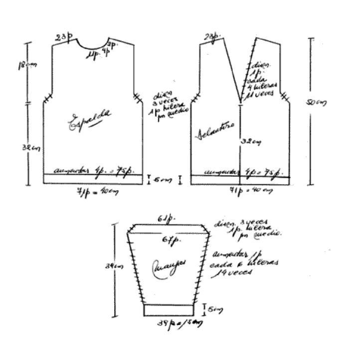 Manual de Tejido a dos agujas, moldes y patrones ~ Un Manitas en Casa