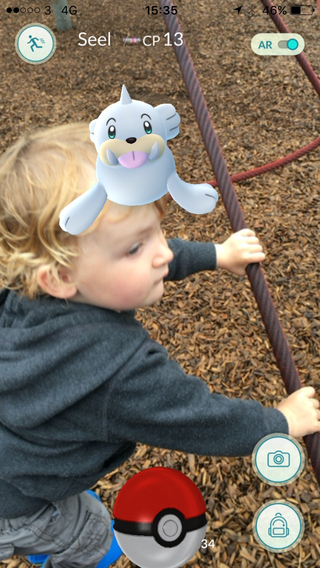 toddler-on-climbing-frame-with-pokemon-on-his-head-at-roath-park