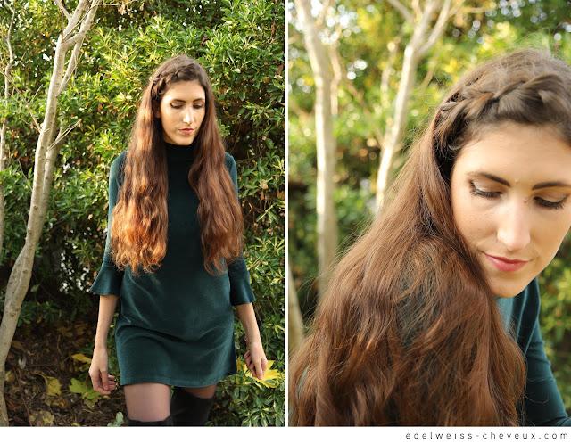 cheveux longs coiffures idée dutch braid fishtail