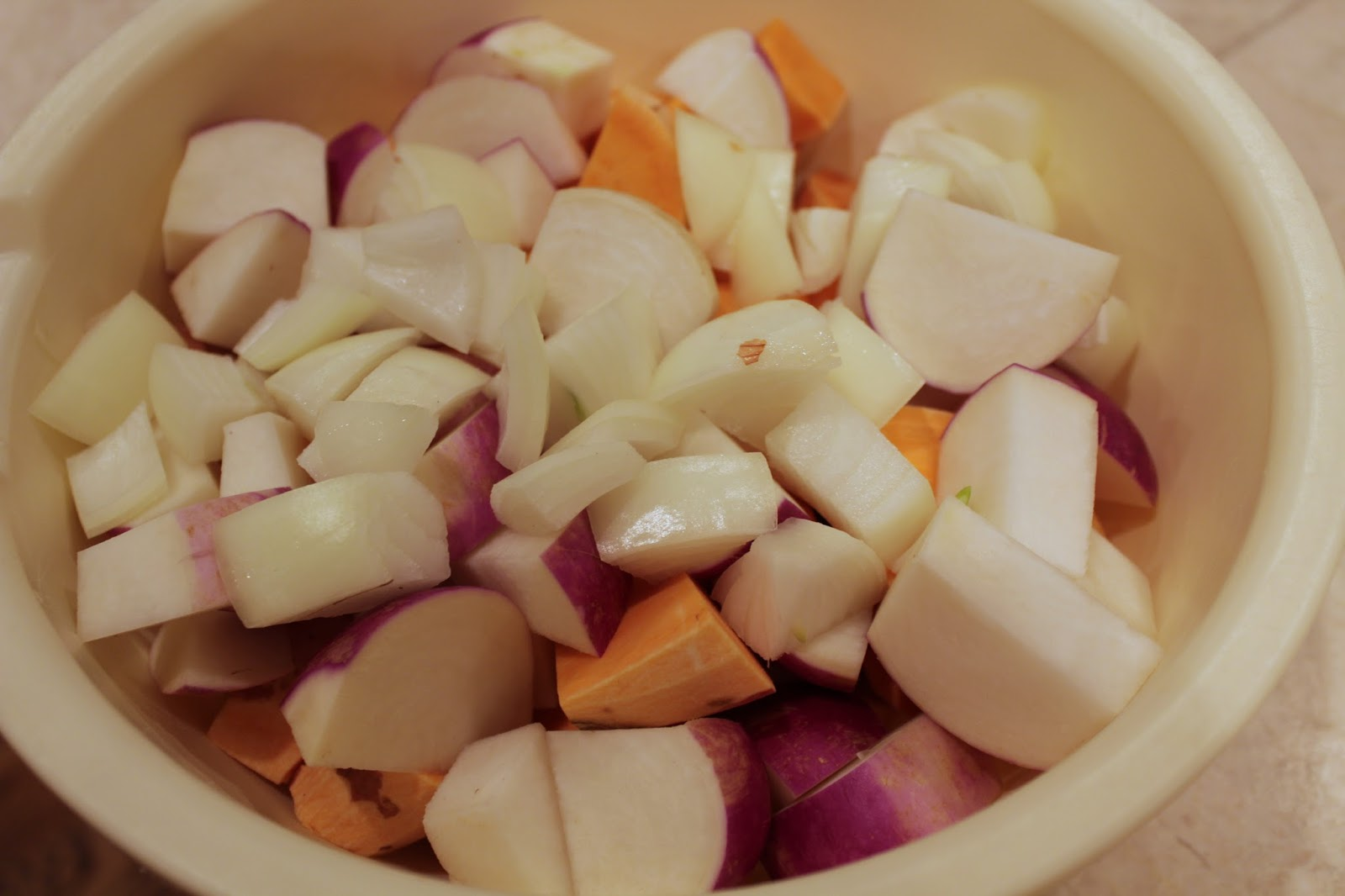 Roasted root vegetables with smokey seasoning