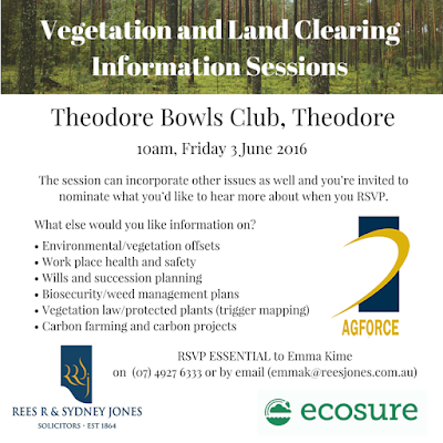 Theodore Bowls Club Vegetation Information Session