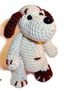 Вязаная крючком игрушка своими руками маленькая карманная собачка