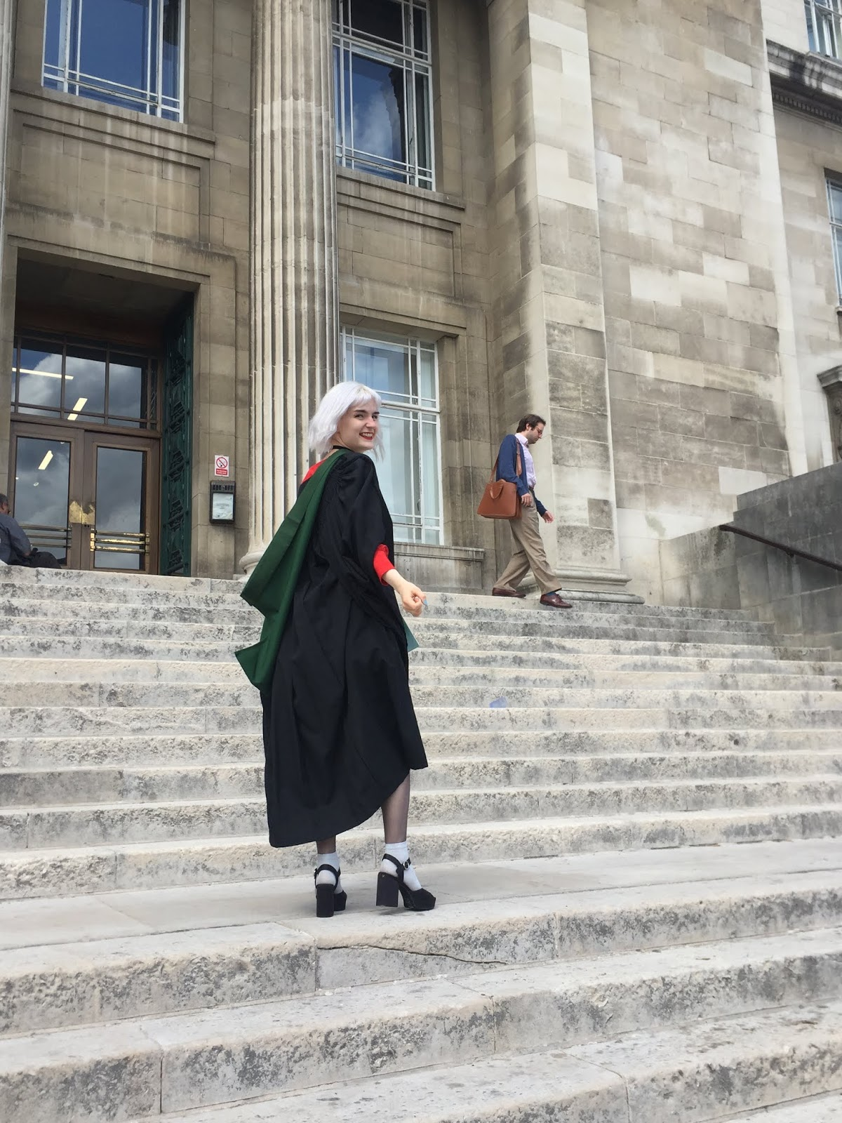 University of Leeds graduate on Parkinson steps