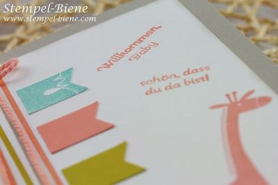Zoo Babies; Babykarte; Sale a bration 2014; Fähnchenfieber, ; Stampin Up Banner Blast; Altrose; Match The Sketch; Stampin' Up; Stempel-biene; Scrapbooking; Scrapbook; stampin' up; Stampin' up recklinghausen; Workshops; www.stempel-biene.com; Stempel-biene Recklinghausen;