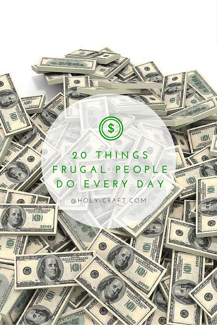20 things frugal people do