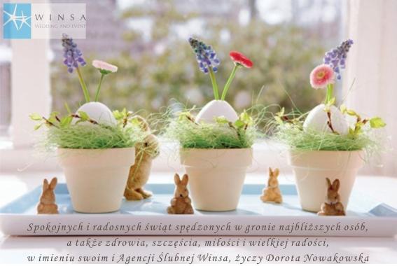 Wielkanoc, Życzenia na Wielkanoc, Kartka na Wielkanoc, Życzenia Świąteczne, Konsultanci Ślubni Winsa