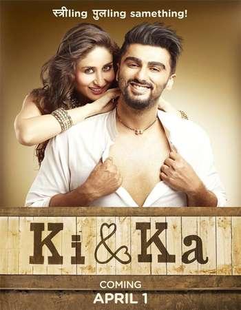Poster Of Ki and Ka 2016 Hindi 720p DVDRip ESubs Watch Online Free Download Worldfree4u