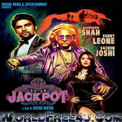 Poster Of Bollywood Movie Jackpot (2013) 300MB Compressed Small Size Pc Movie Free Download worldfree4u.com