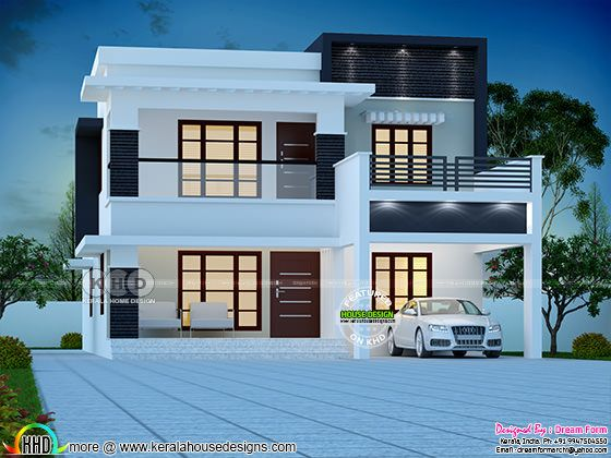 4 bedroom modern double storied house plan 2500 sq-ft