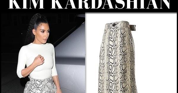 ee7860c127 Kim Kardashian in snake print maxi skirt and transparent pumps at Giorgio  Baldi Restaurant - gossip-glamb