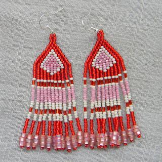 купить оригинальные серьги из бисера для девушки изделия из бисера стоимость