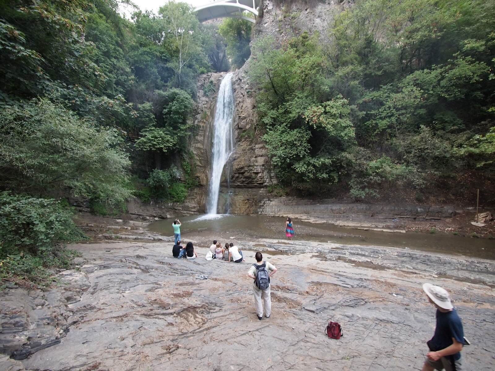 Waterfall in National Botanical Garden of Georgia