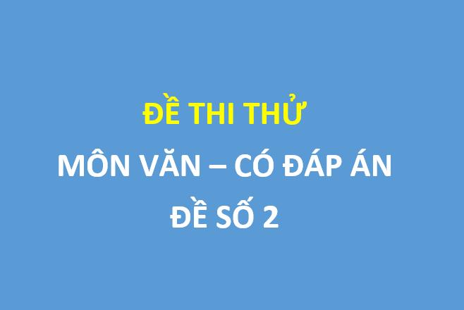 Đề thi thử môn ngữ văn lần 4 trường thpt Yên Lạc