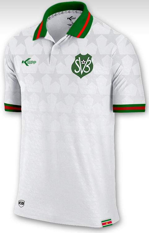 Klupp apresenta as novas camisas do Suriname - Show de Camisas b082c4fd3a7bd