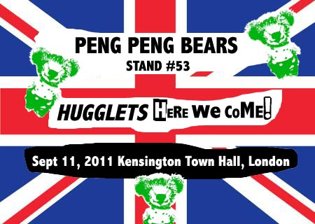 peng peng hugglets uk bear show london