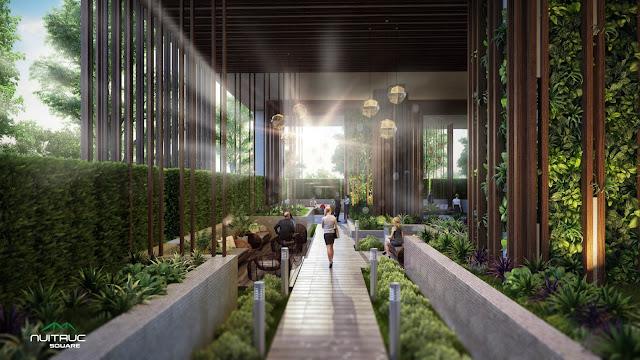 Không gian sống xanh tại chung cư Núi Trúc