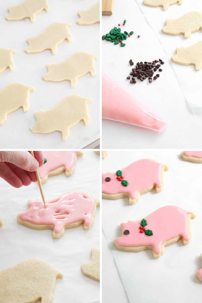 Gift This Lucky Peppermint Pig Cookies Sprinkle Bakes