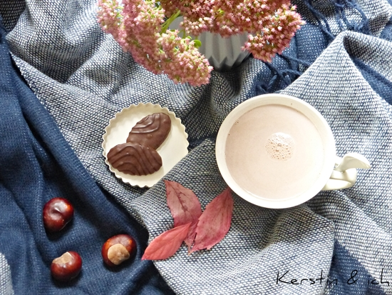 Coziness im Herbst Heißer Kakao