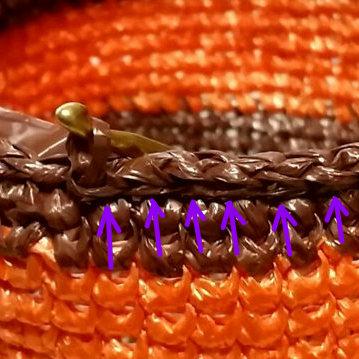 引抜編みの編み方, how to crochet a slip stitch, 滑针的钩法,