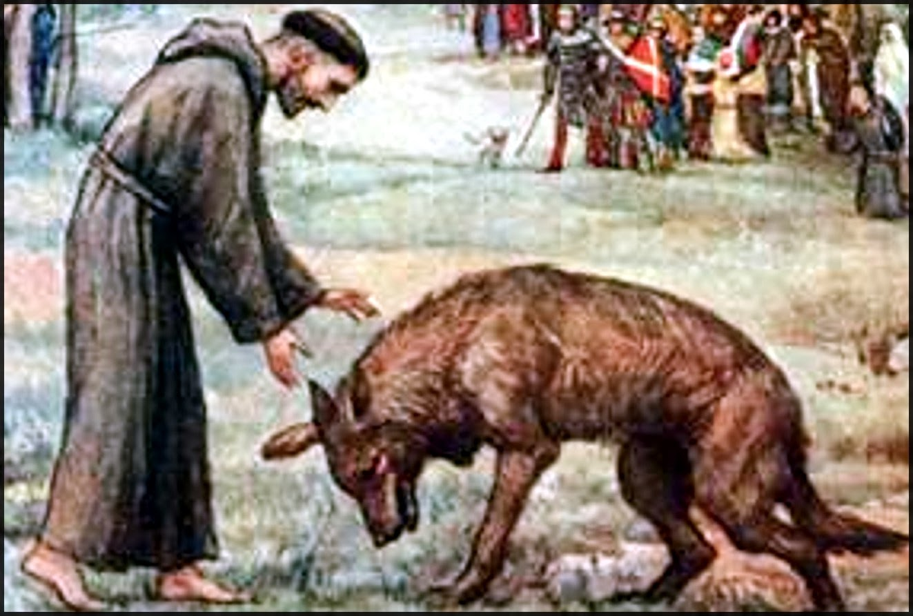 Resultado de imagen para el lobo de gubbio