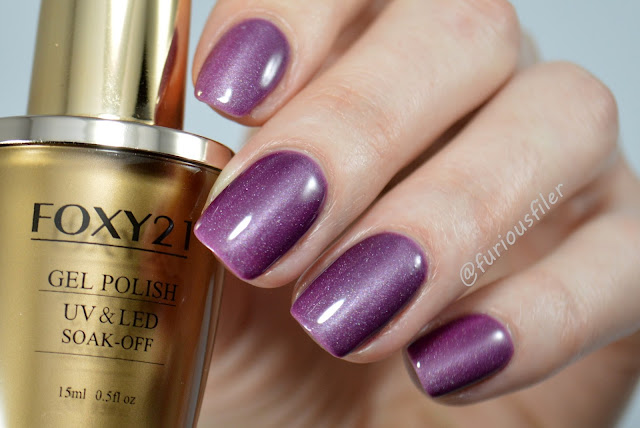 magnetic thermal hybrid cat eye purple holographic foxy21